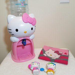 Hello Kitty Water Dispenser/Blanket/Toy-LOT